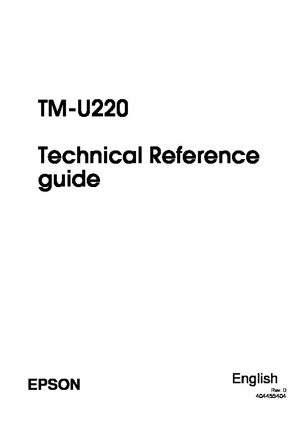Epson epson tm u220 Service Manual pdf Diagramas de