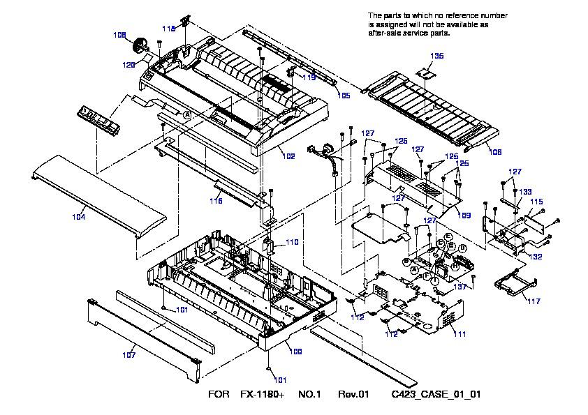 Epson FX 1180+ FX 1180+ Despiece pdf Diagramas de