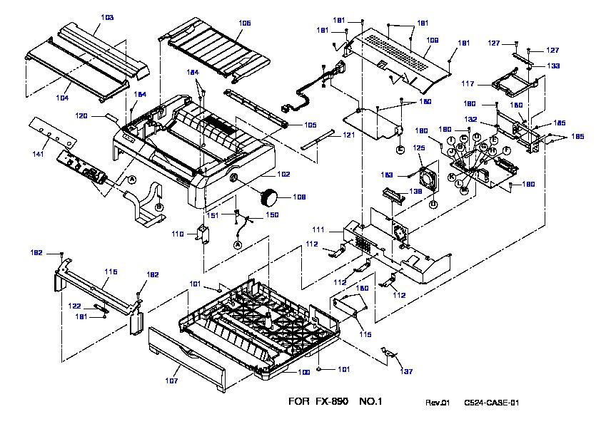 Epson FX890 FX890 1 pdf Diagramas de Impresoras