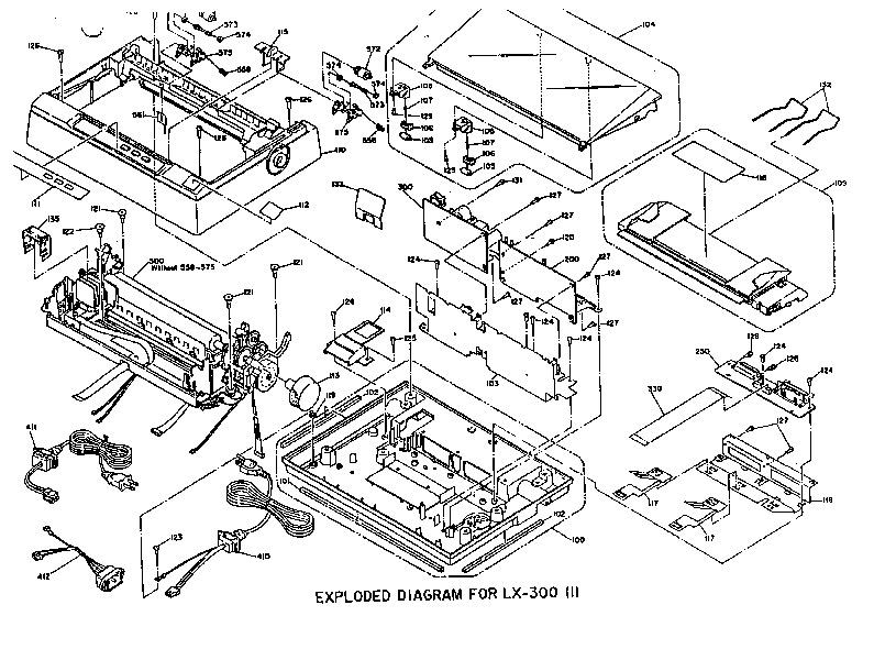 Epson lx300 despiece pdf Diagramas de Impresoras