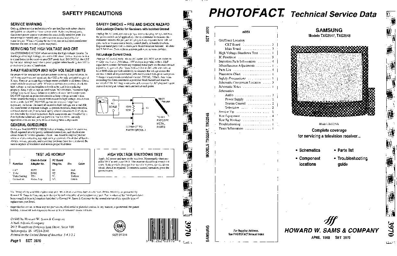 SAMSUNG SAMSUNG TXG2547 pdf Diagramas de Televisores Lcd y