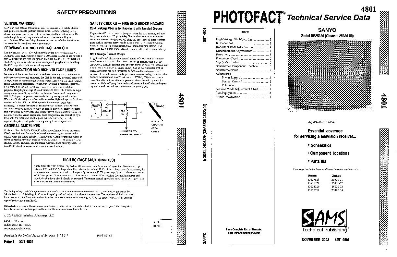 SANYO Sanyo DS25320 4801 Sanyo DS25320 pdf Diagramas de