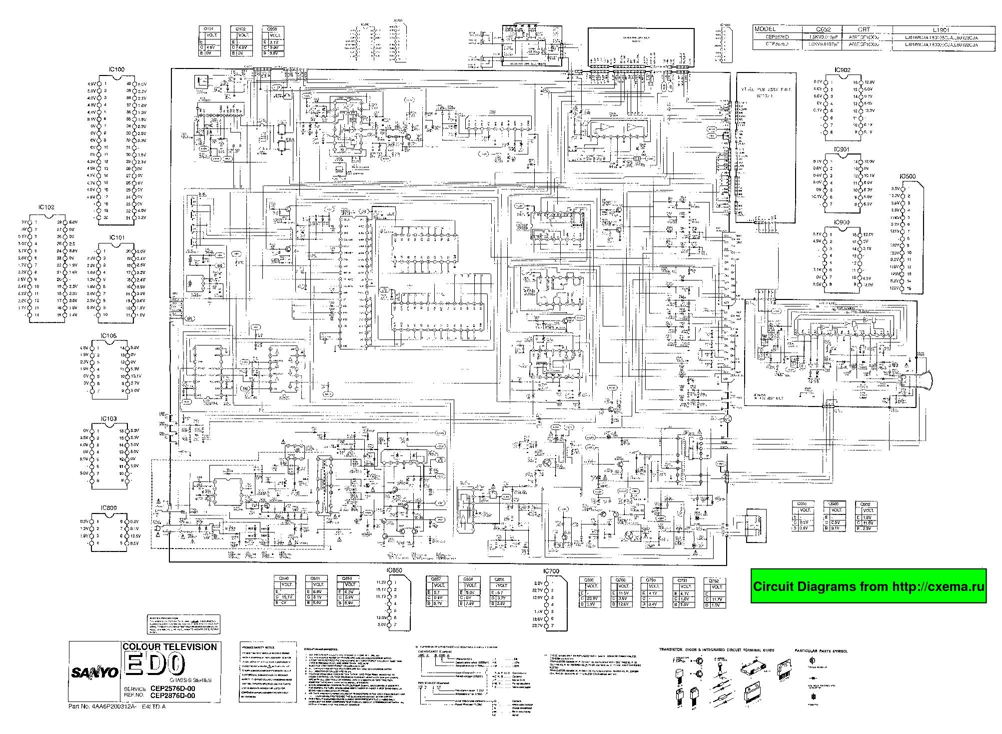 SANYO CEP 2576D 2876D CEP 2576D 2876D pdf Diagramas de