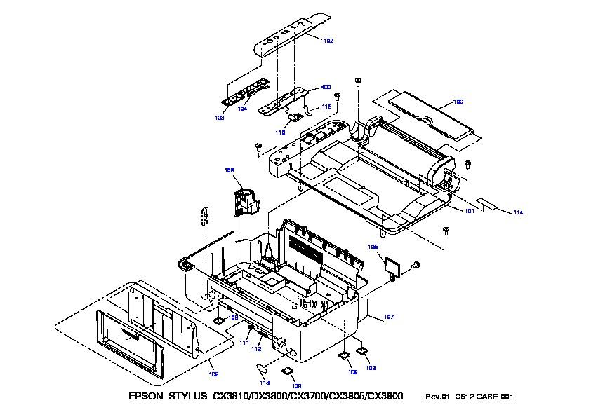 Epson StylusCX3700 pdf Diagramas de Impresoras