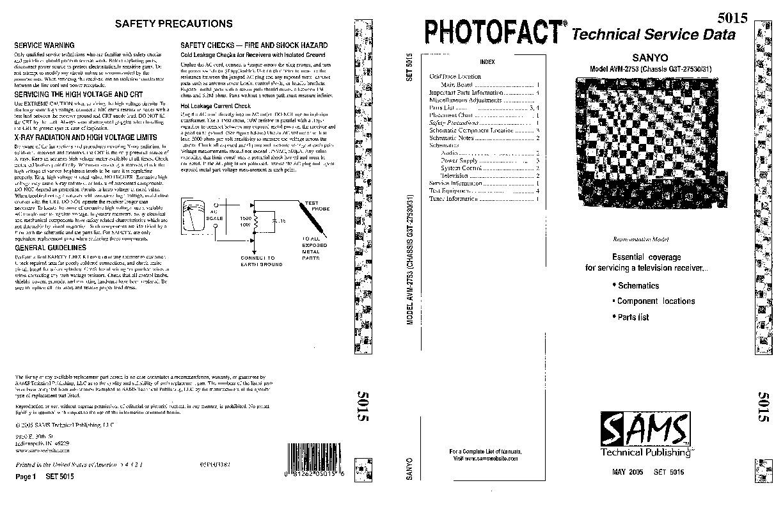 SANYO avm2753 NYO MODELO AVM2753 pdf Diagramas de