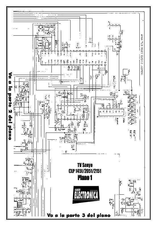 SANYO Sanyo CLP1451 Chasis B10621 pdf Diagramas de