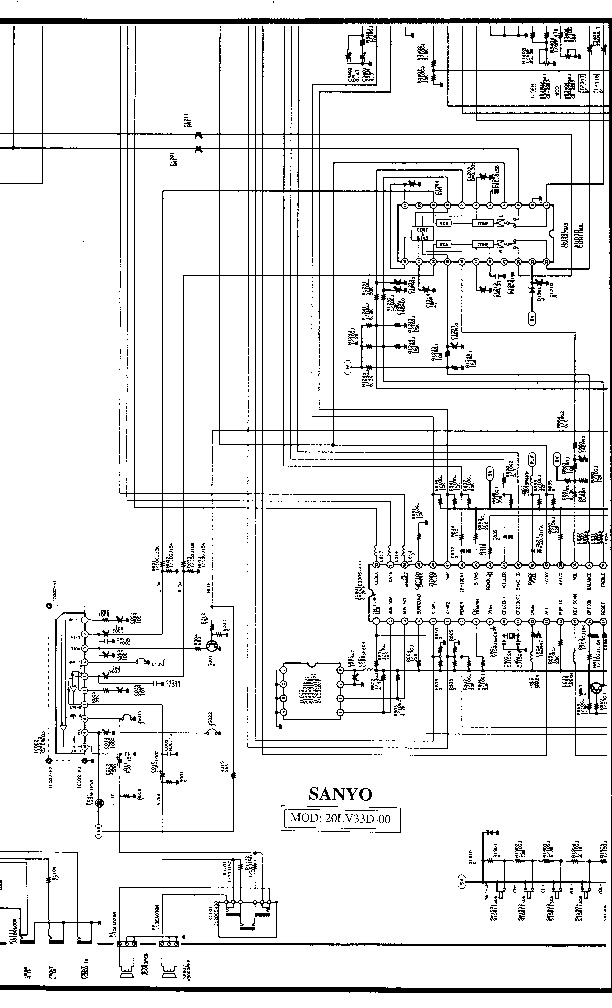 SANYO sanyo 20lv33d 00 ch la3 sch pdf Diagramas de