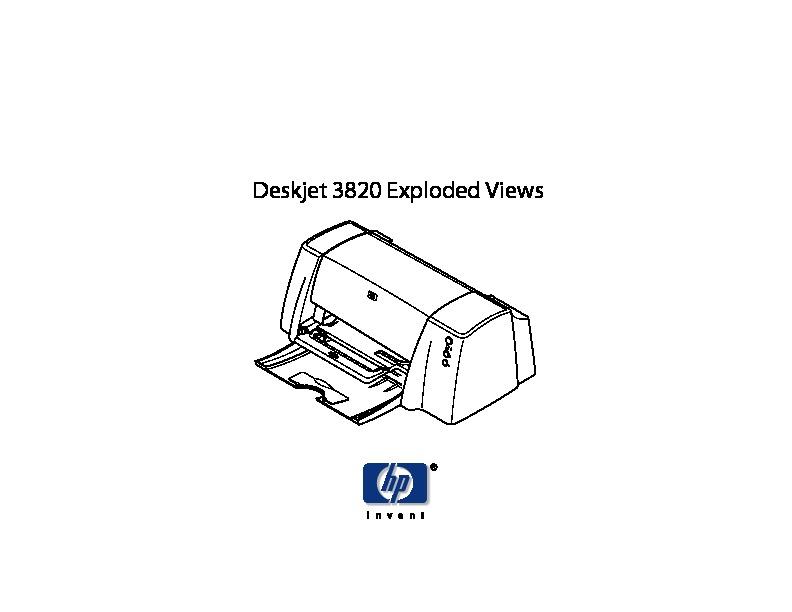 HP hp 3820 H P 3820 exploded pdf Diagramas de Impresoras