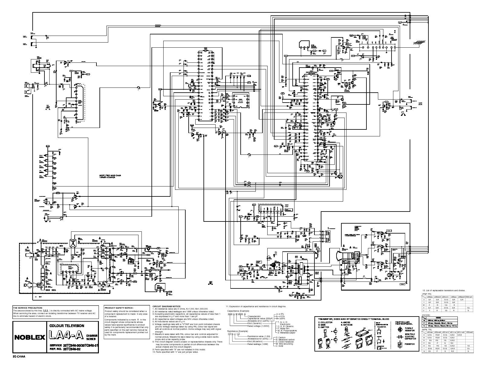 SANYO sanyo c20lb14s la4 a TV Chasis LA 4A pdf Diagramas