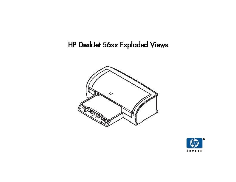 HP HP Deskjet 56xx exploded pdf Diagramas de Impresoras
