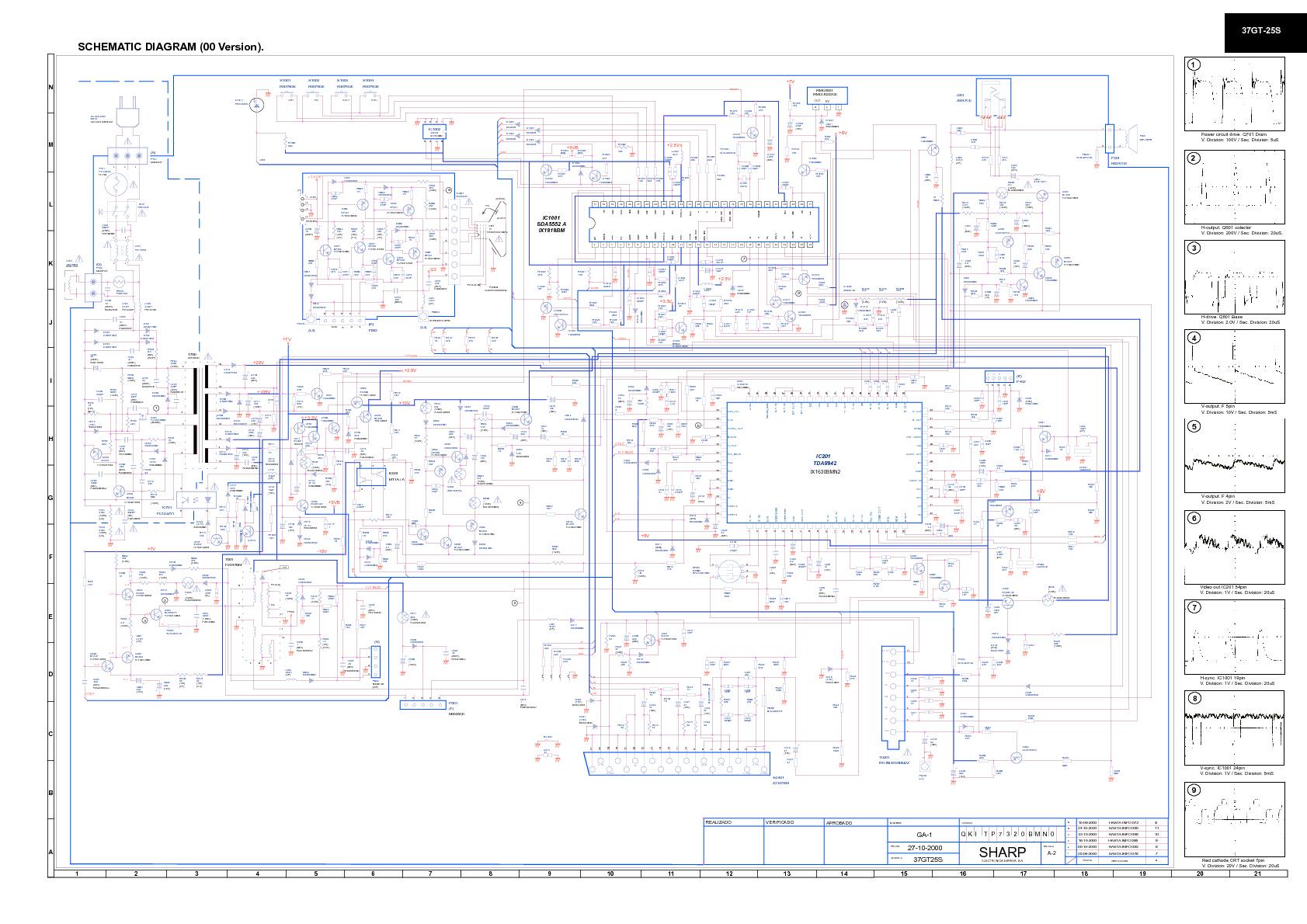 SHARP 37GT25S CD GB pdf Diagramas de Televisores Lcd y