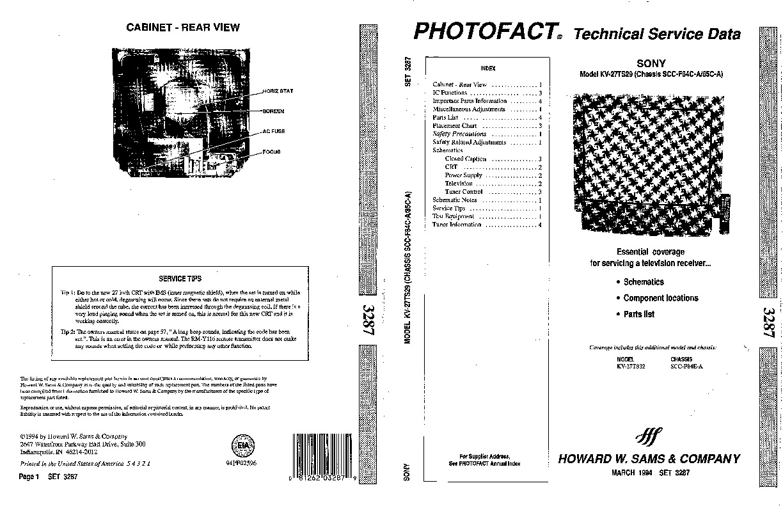 SONY sony KV27TS32 3287n pdf Diagramas de Televisores Lcd