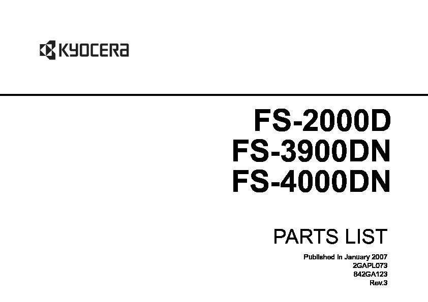 Kyocera Mita FS2000D/FS3900DN/FS4000DN FS 2000D 3900DN