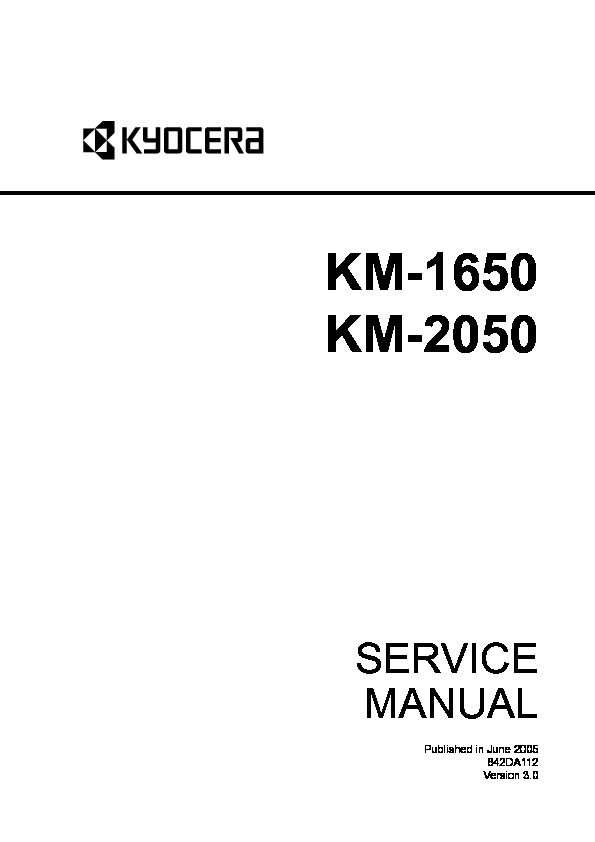 Kyocera Mita KM 1650 2050 SM UK pdf Diagramas de