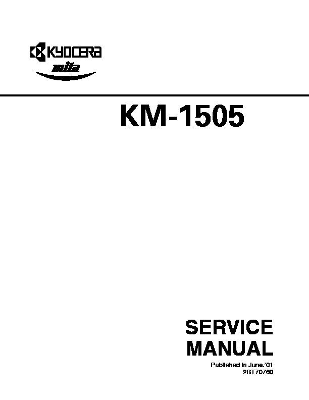 kyocera mita KM 1505 MANUAL DE SERVICIO pdf Diagramas de