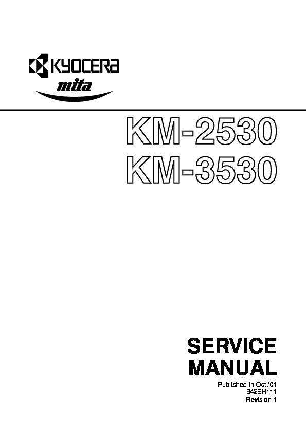 kyocera mita KM 2530 KM 3530 SM pdf Diagramas de