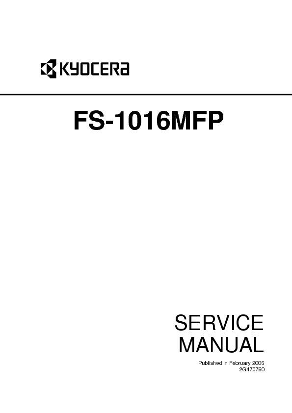 kyocera mita Service Manual FS 1016EN pdf Diagramas de
