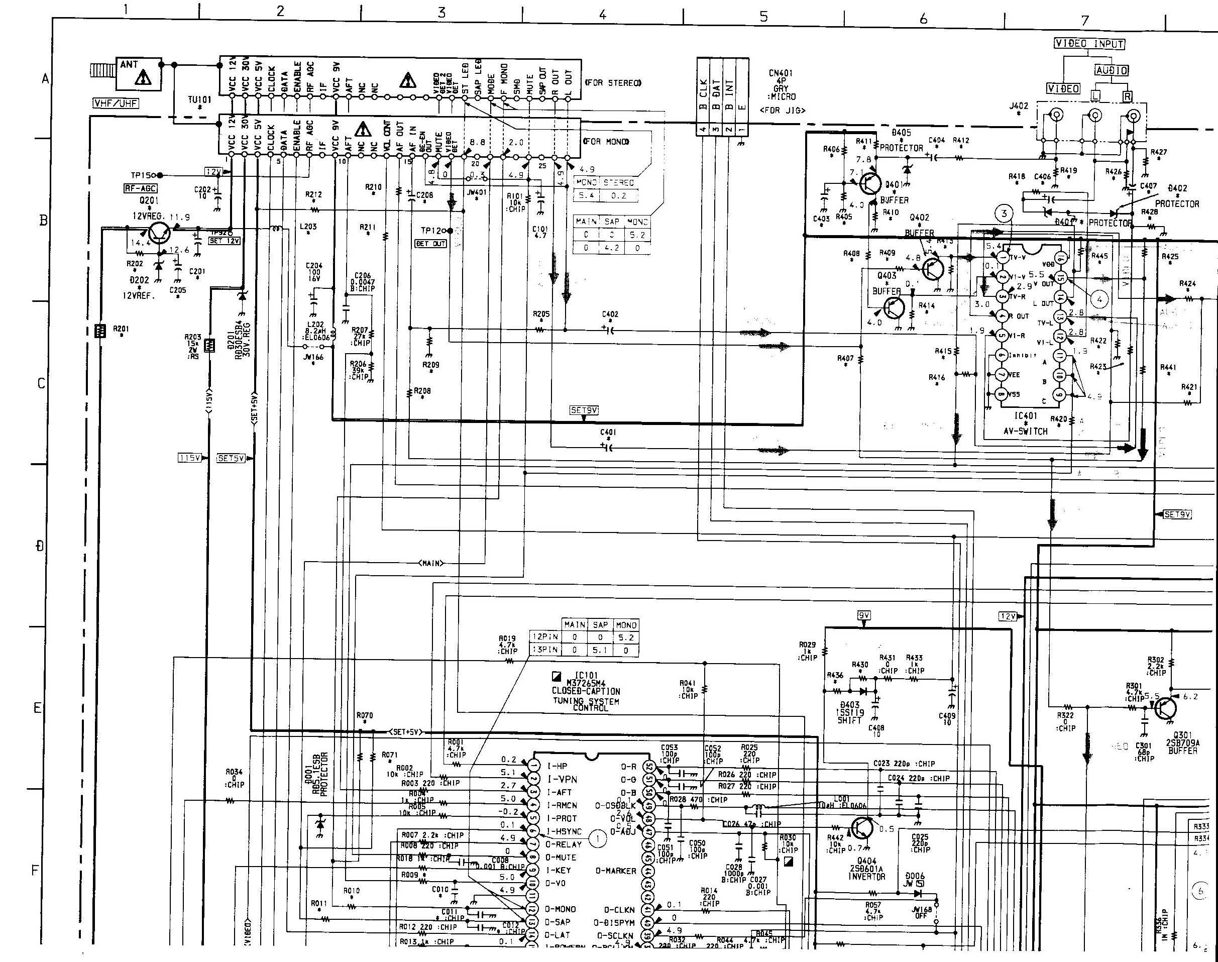 SONY kvr2027 KV2027R TVC SONY pdf Diagramas de Televisores