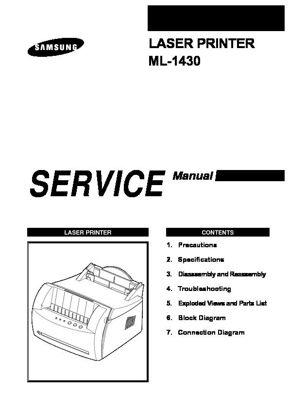 SAMSUNG ml 1430 pdf Diagramas de Impresoras