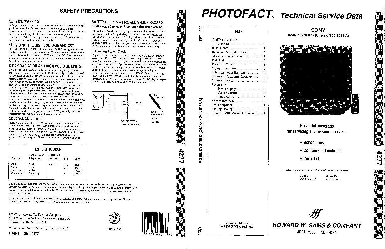 SONY KV 21ME42 sony KV 21ME42 pdf Diagramas de Televisores
