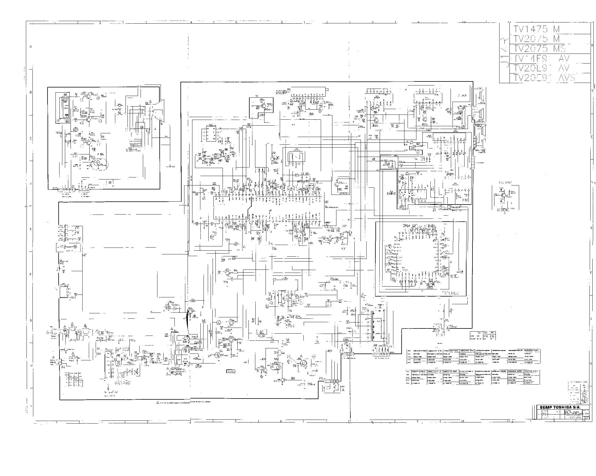 Toshiba Diagrama Toshiba 2075 Chasis U14R pdf Diagramas de