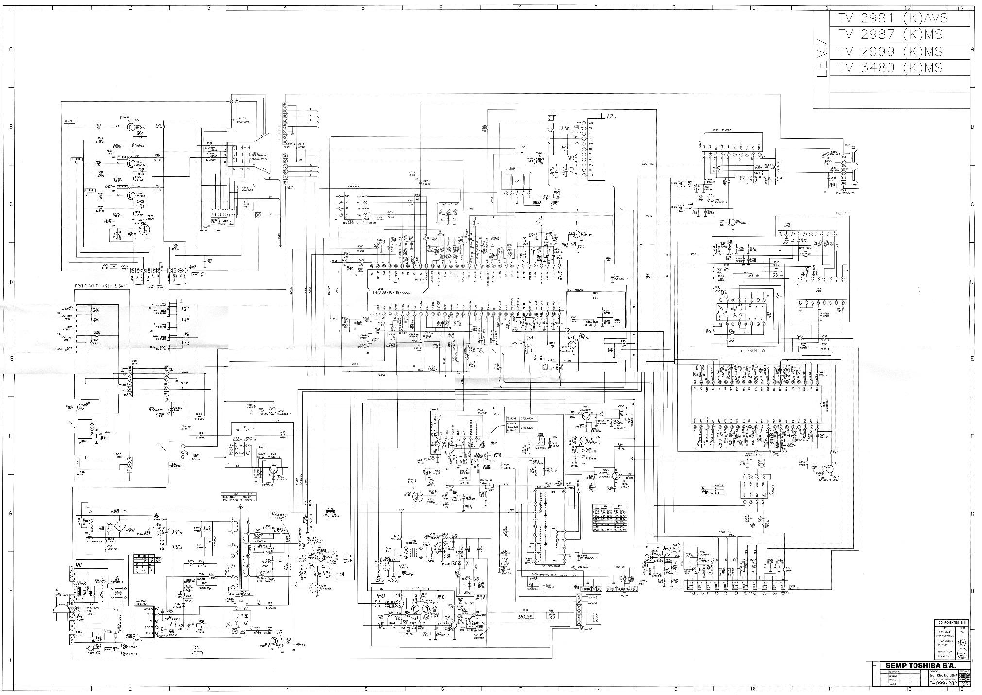 Toshiba Toshiba LEM7 pdf Diagramas de Televisores Lcd y
