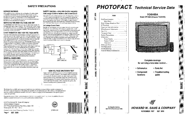 Toshiba Toshiba CF19G22 Chasis TAC9700 pdf Diagramas de