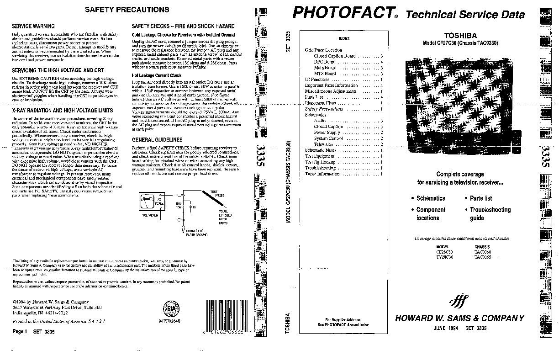 Toshiba Toshiba CF27C30 Chasis TAC9350 pdf Diagramas de
