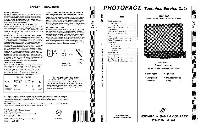 Toshiba Toshiba CF35F40 CF36G40 Chasis TAC9609 pdf