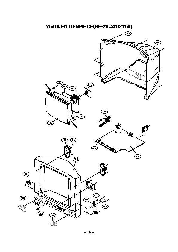 Varios RP20CA10 RP 20CA10A EXPLODED pdf Diagramas de