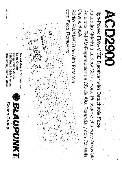 Varios ACD2900 Radio para Carro BLAUPUNKT ACD2900 pdf