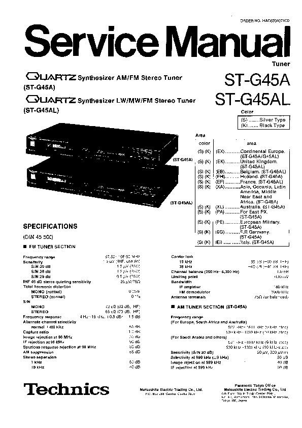 Varios STG45A SM TECHNICS pdf Diagramas de AUDIO