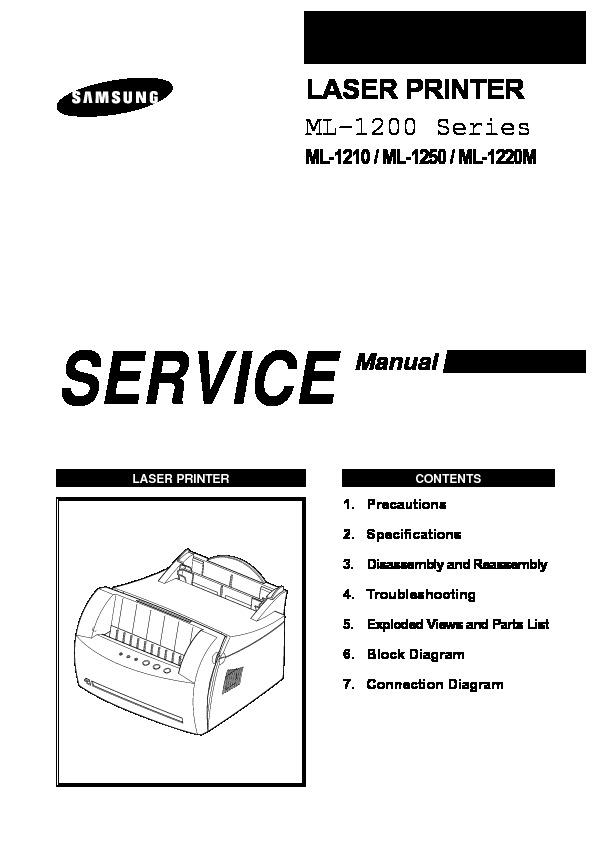 SAMSUNG ML 1210 smsamsungml1210 pdf Diagramas de