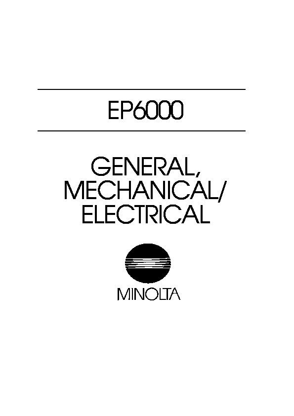 Minolta EP6001 EP6000MS pdf Diagramas de copiadoras