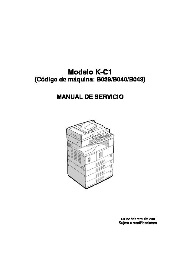 Ricoh Ricoh AF 1113 1015 1018 manual tecnico 1113 1015