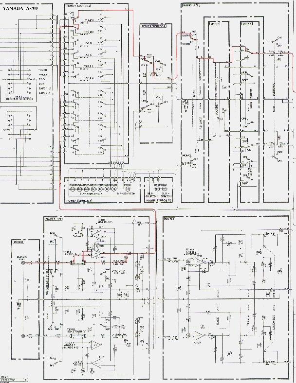 YAMAHA A 700 Yamaha A 700 pdf Diagramas de AUDIO