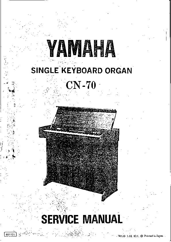 YAMAHA yamaha cn 70 sm pdf Diagramas de AUDIO