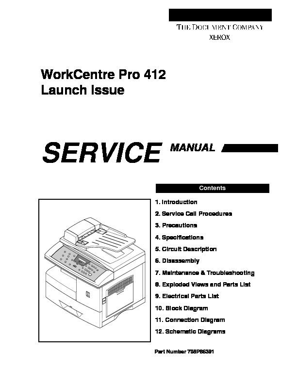 xerox WCP 412 WCP 412sm pdf Diagramas de copiadoras