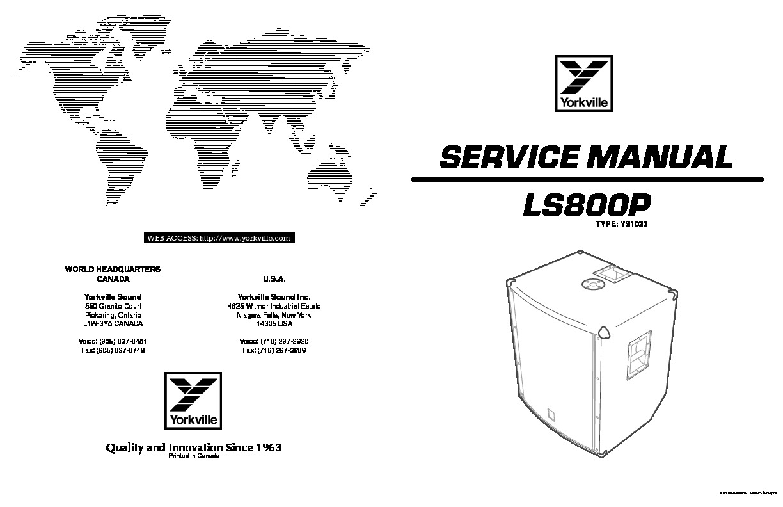 Yorkville LS800p LS800p pdf Diagramas de AUDIO
