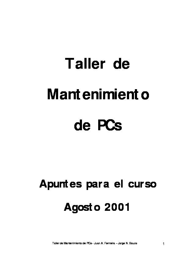 Mantenimiento De Computadoras Pdf download free