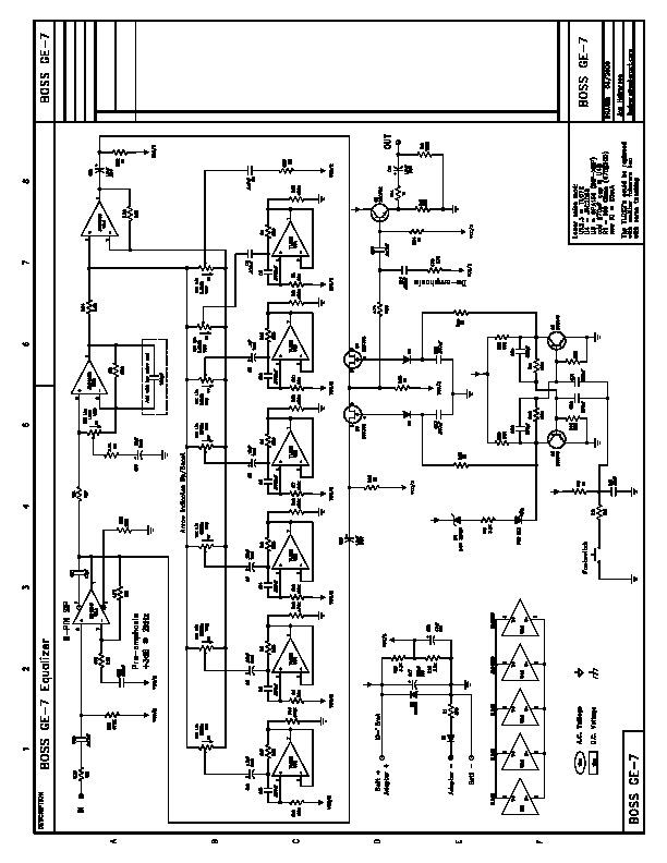 Varios BOSS GE 7 pdf Diagramas de instrumentos musicales