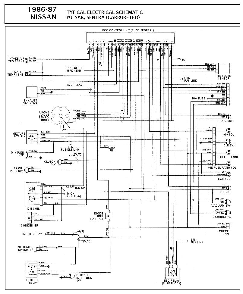 hight resolution of nissan nissan sentra carbureted pcm wiring diagram gif diagramas de rh diagramasde com