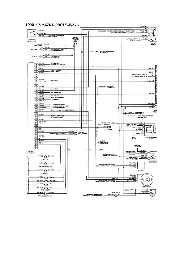 Mazda Mazda Protege 6/6 esqmzd033 pdf Diagramas de autos