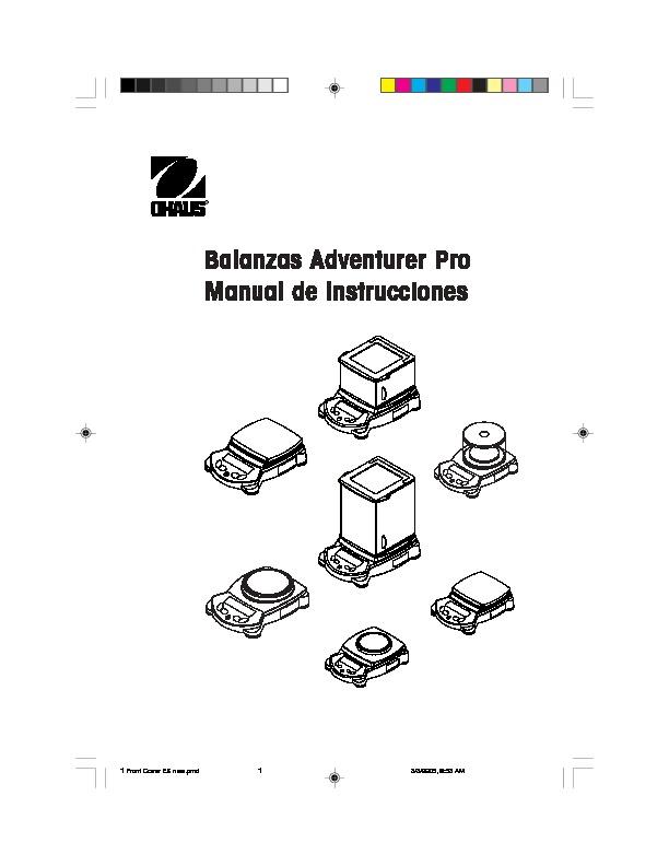 Mettler Toledo ohaus Adventurer Pro pdf Diagramas de