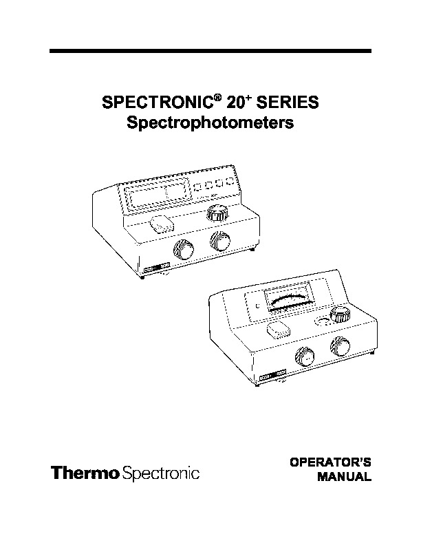 spectronic 20 Manual del Operador Spectronic 20 pdf