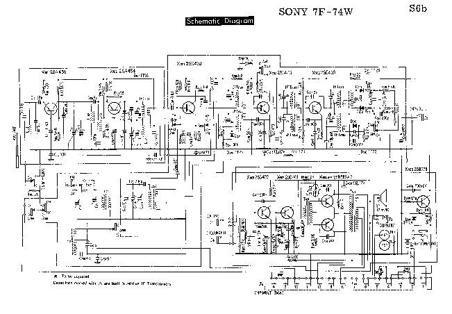 SONY Sony 7f 74w pdf Diagramas de autoradio potencias