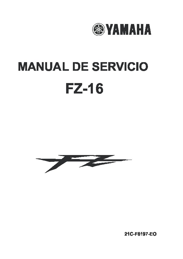 YAMAHA Manual de taller yamaha fz 16 pdf Diagramas de