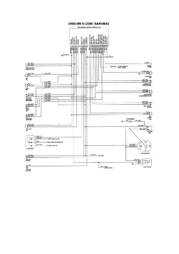 Suzuki suzuki 3/4 sidekick 03 pdf Diagramas de autos