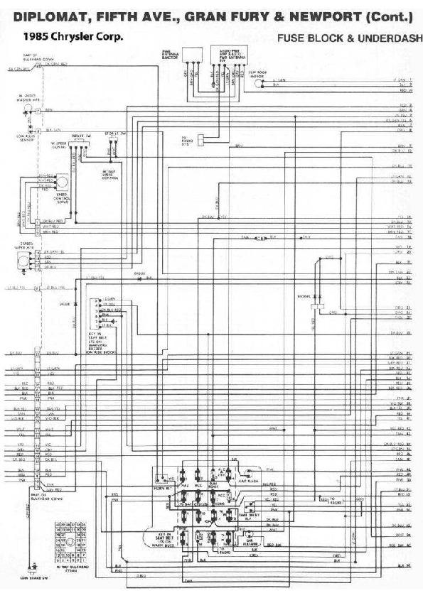 DODGE New Yorker & Lebaron diag85034 small pdf Diagramas