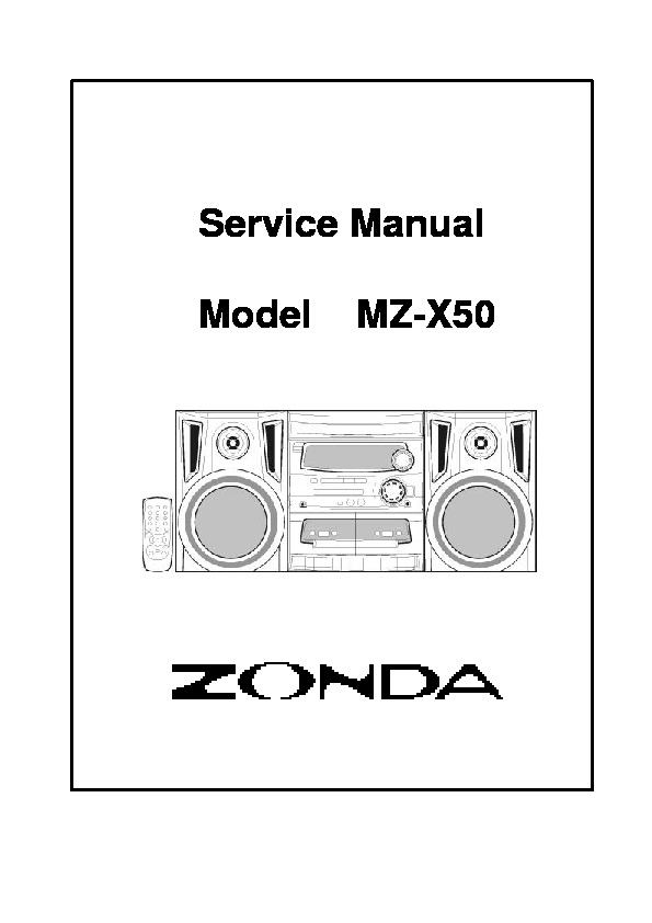 Zonda Zonda MZ X50 pdf Diagramas de AUDIO